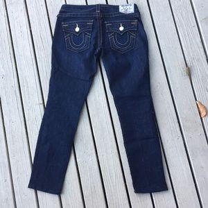 True Religion Jeans - True religion woman's jeans skinny 26 x27 flaps